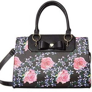 NWT Betsey Johnson Floral Handbag